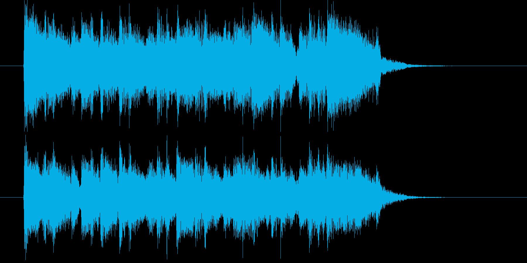激しいギターによるハードロックのジングルの再生済みの波形