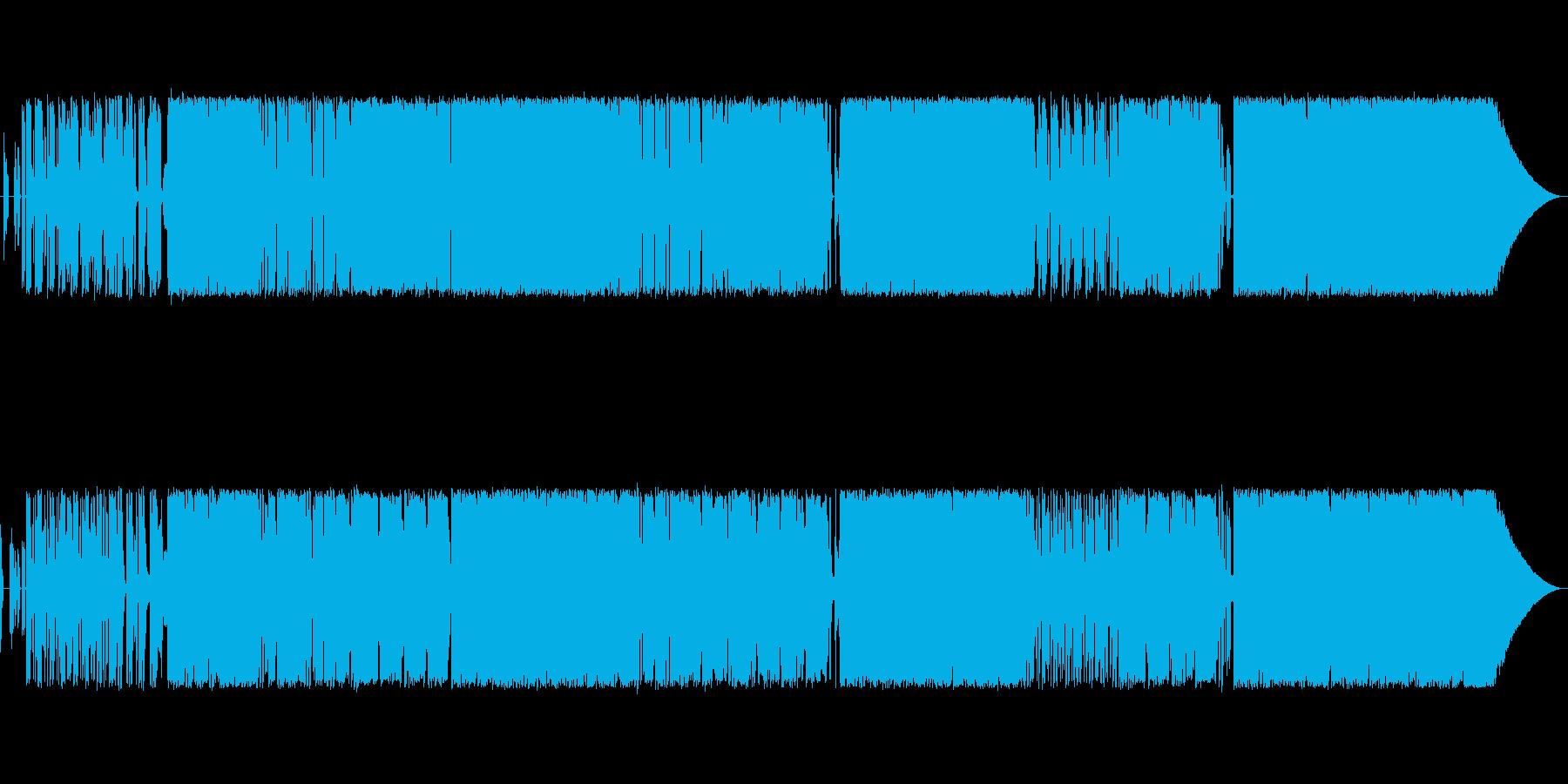 過激な歌詞と曲調のロックポップスの再生済みの波形