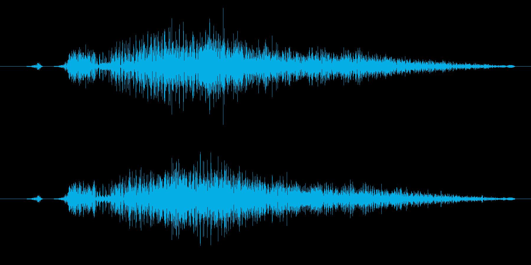 ジャンプ/飛ぶ/はねるに最適な効果音!の再生済みの波形