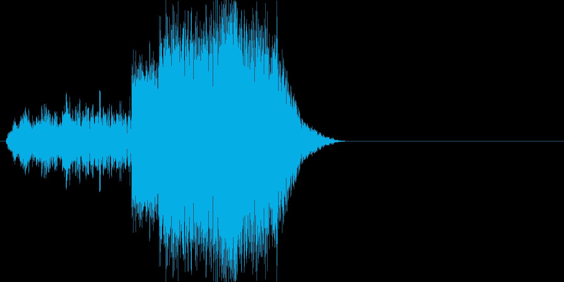 キュゥゥ...ドガガーン(雷、魔法)の再生済みの波形