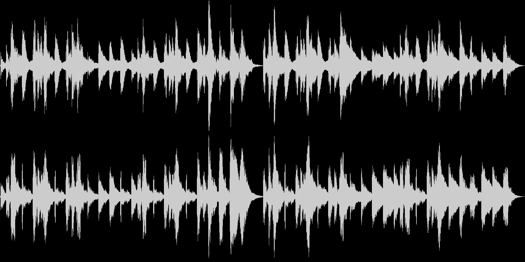 オルゴール「アメージンググレイス」の未再生の波形