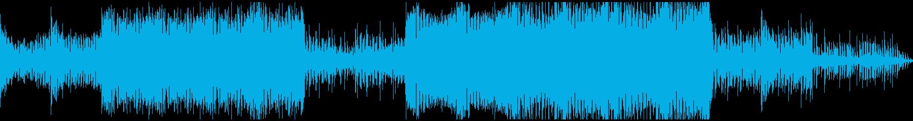ワブルベースのクラブ風ミュージックの再生済みの波形