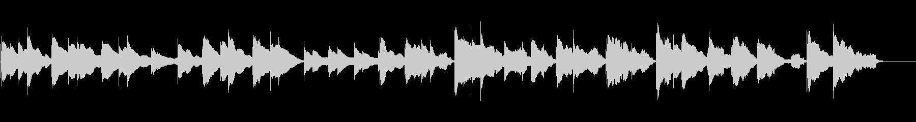 さびしい回想シーンの音楽の未再生の波形