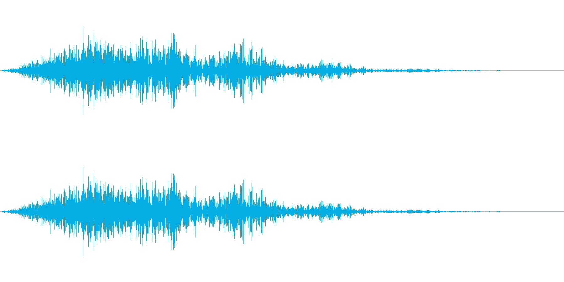 ウインドウなどのクローズ音です。の再生済みの波形