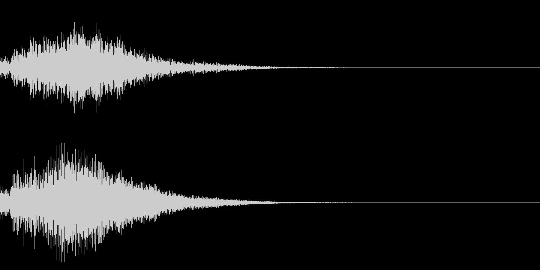 シンプルな決定音 ボタン音 正解音 17の未再生の波形