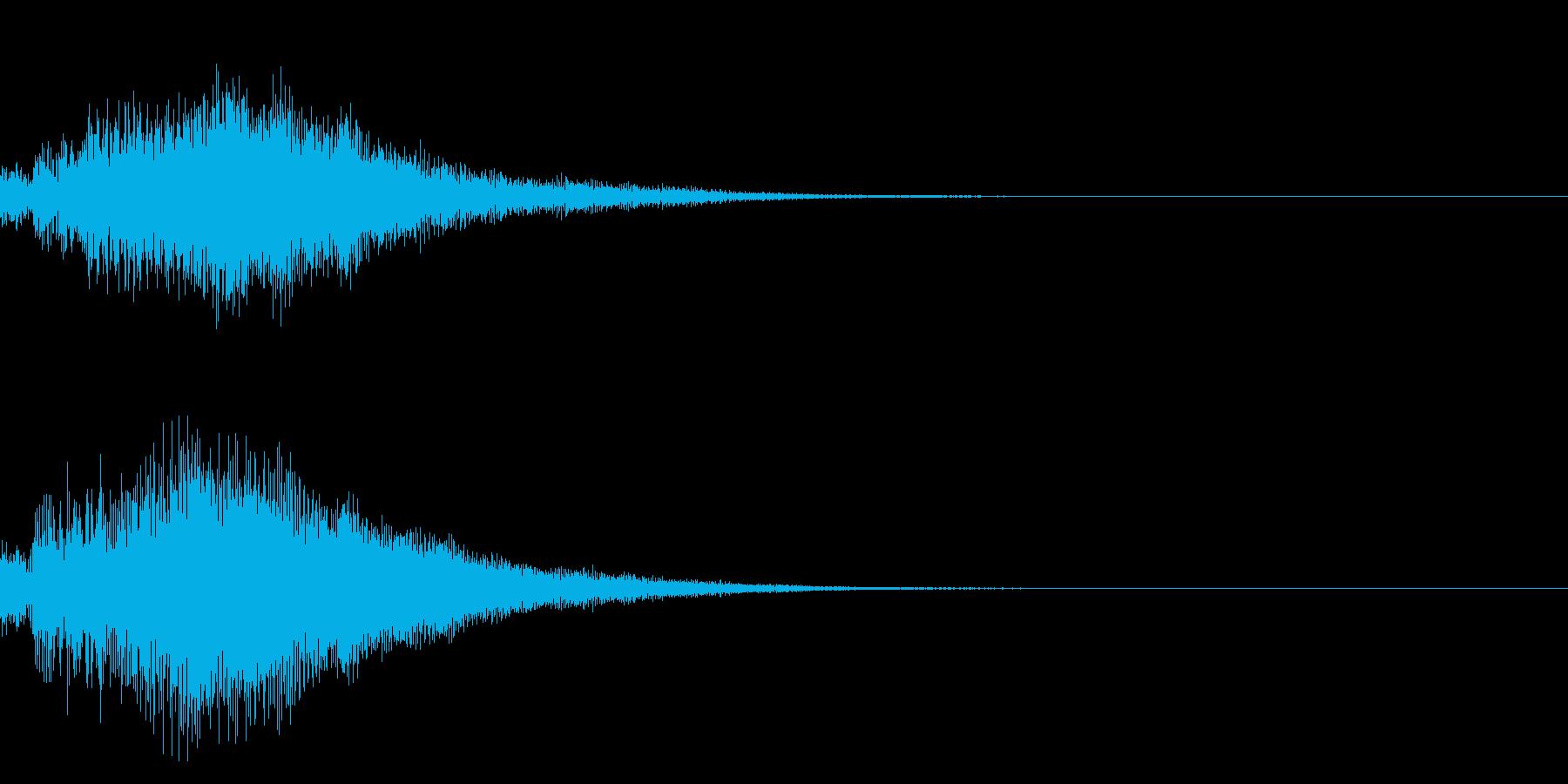 シンプルな決定音 ボタン音 正解音 17の再生済みの波形