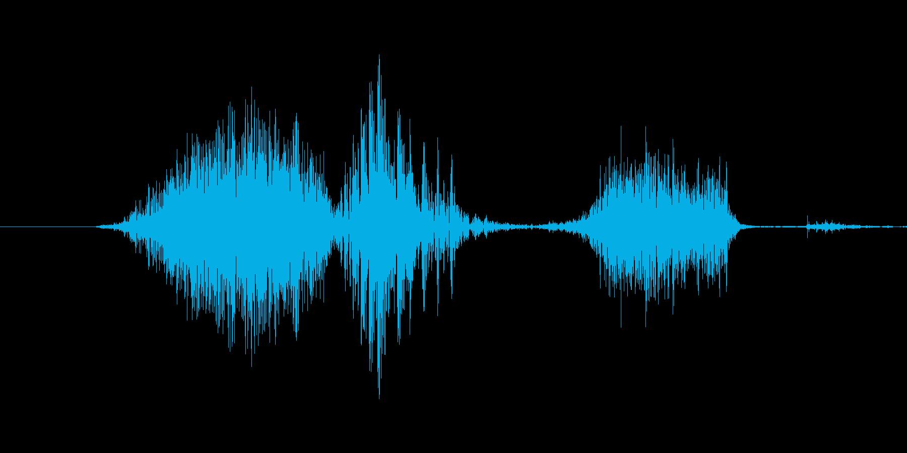 「6th/sixth」英語の再生済みの波形