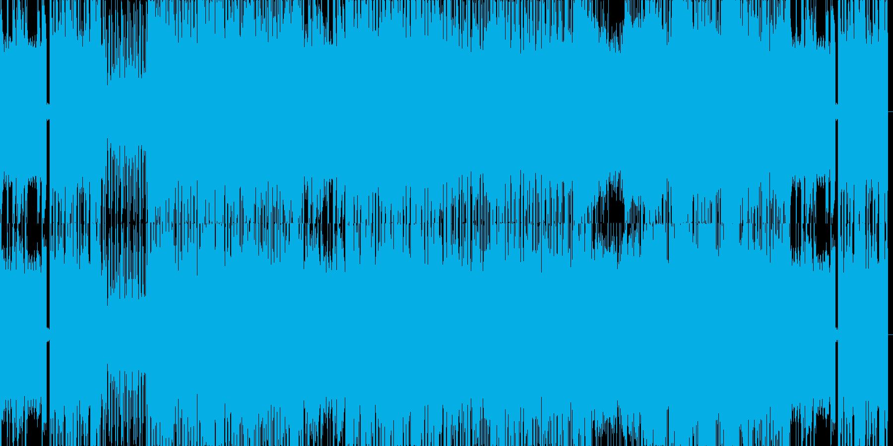 幻想的なテクノの再生済みの波形