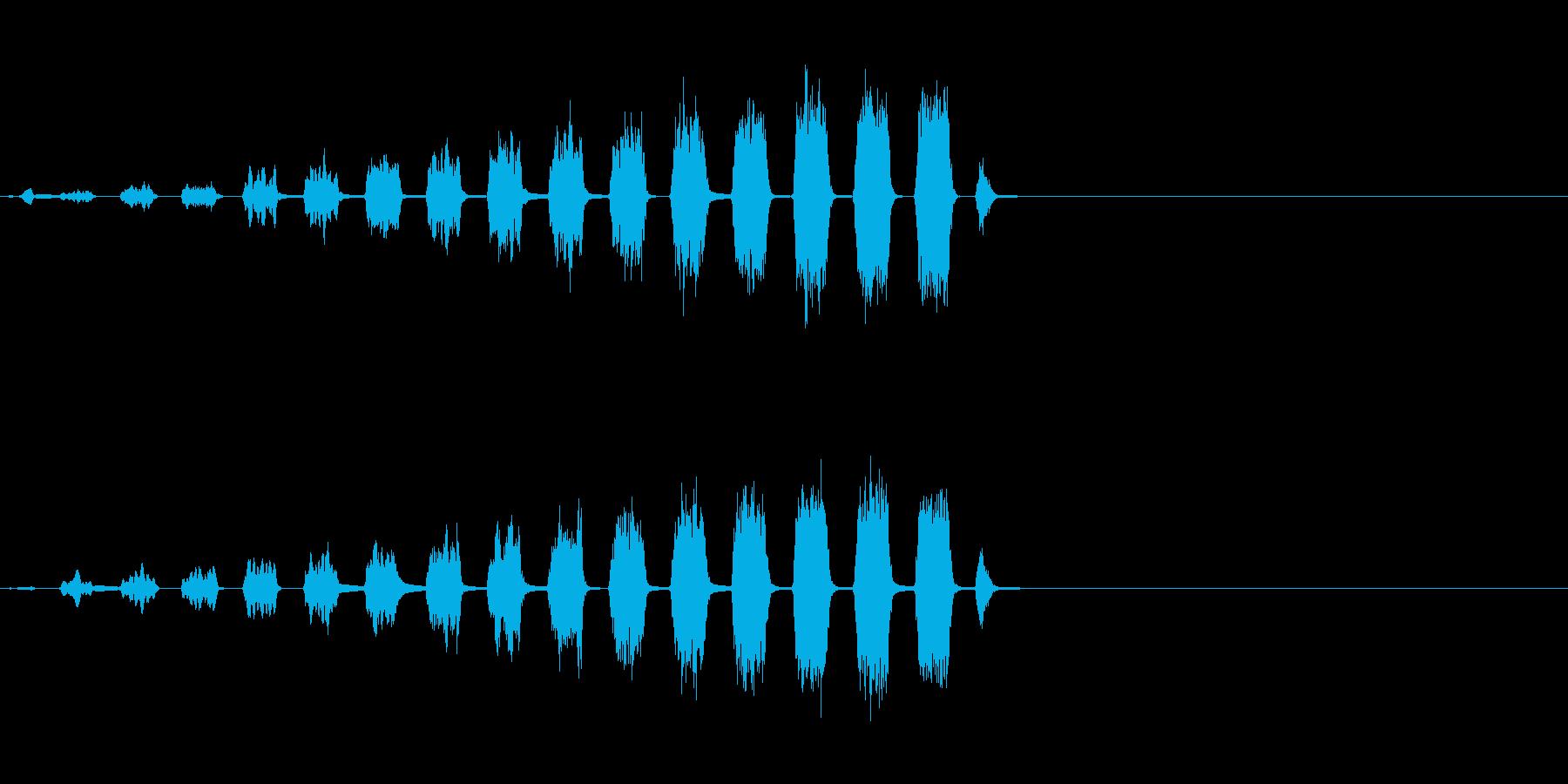 迫り来る音・ザッザッザッザッザッ!の再生済みの波形