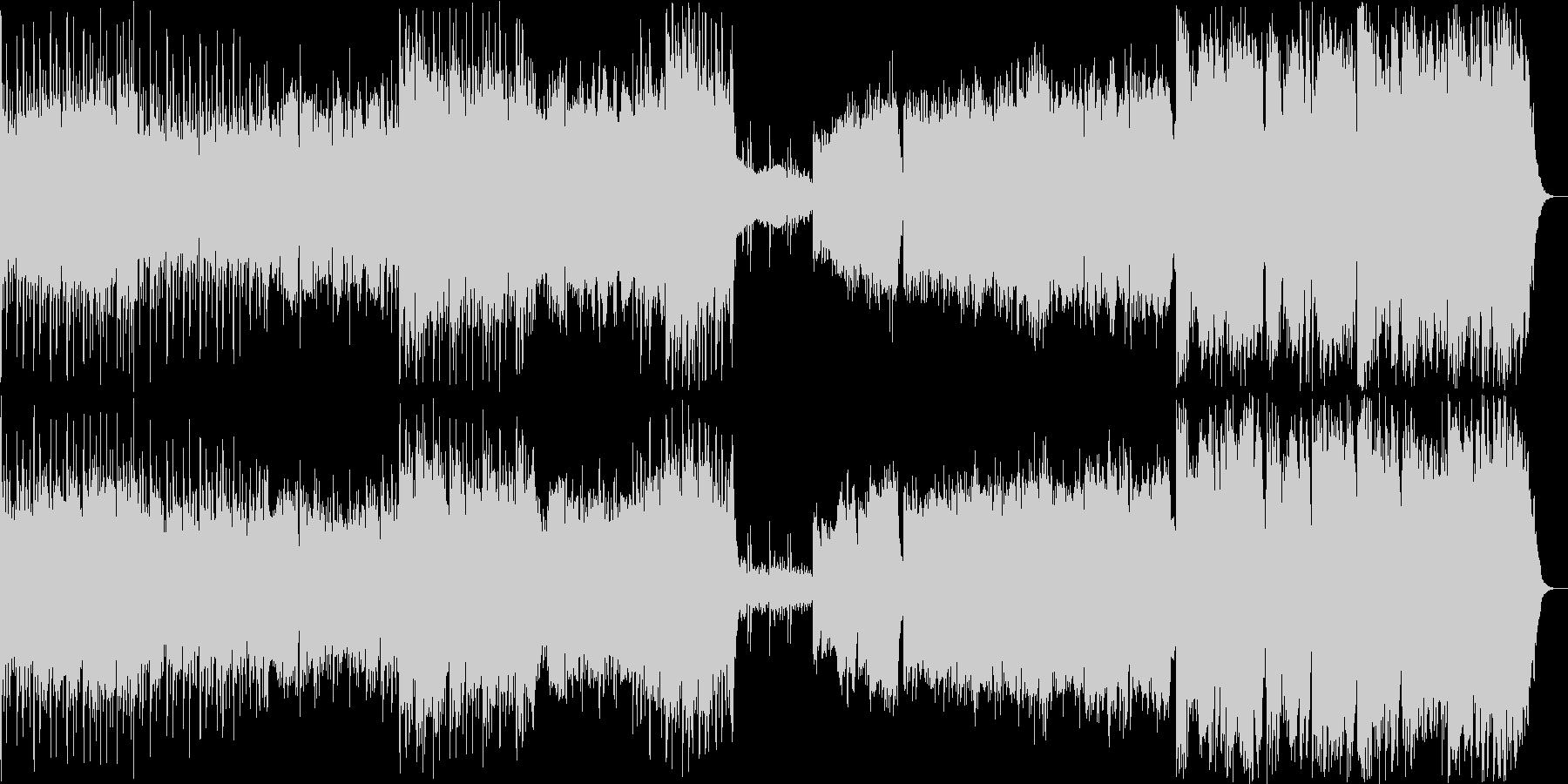 壮大で迫力のある滝のイメージの曲の未再生の波形