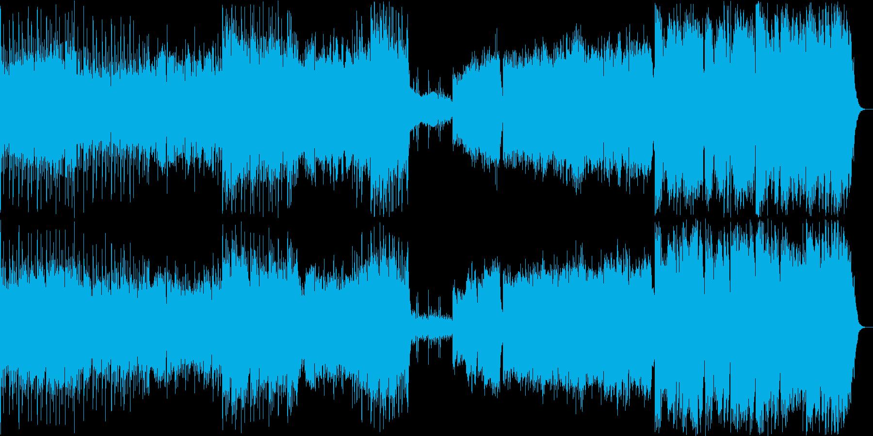 壮大で迫力のある滝のイメージの曲の再生済みの波形