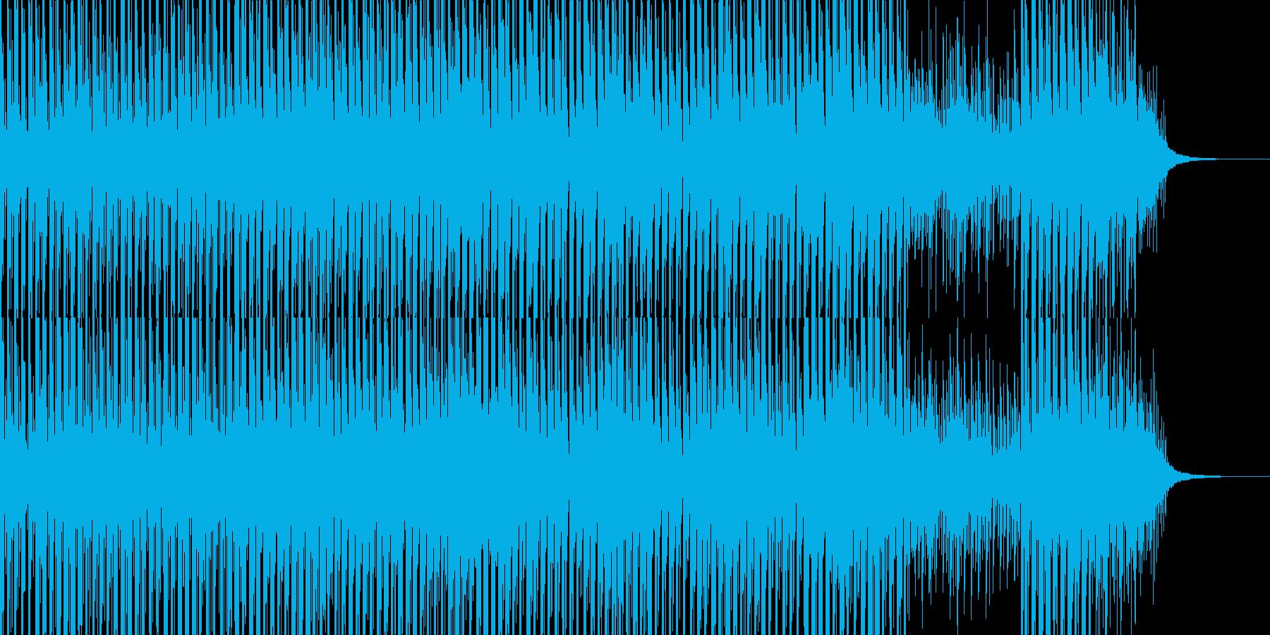 ちょっとミステリアスなエレクトロBGMの再生済みの波形