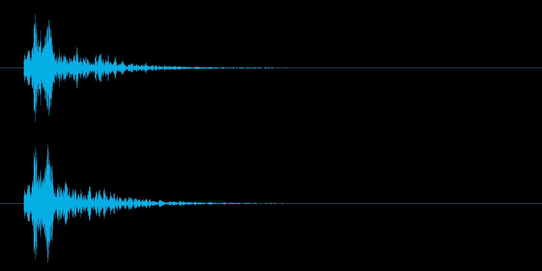 カメラ_シャッター_ストロボの再生済みの波形