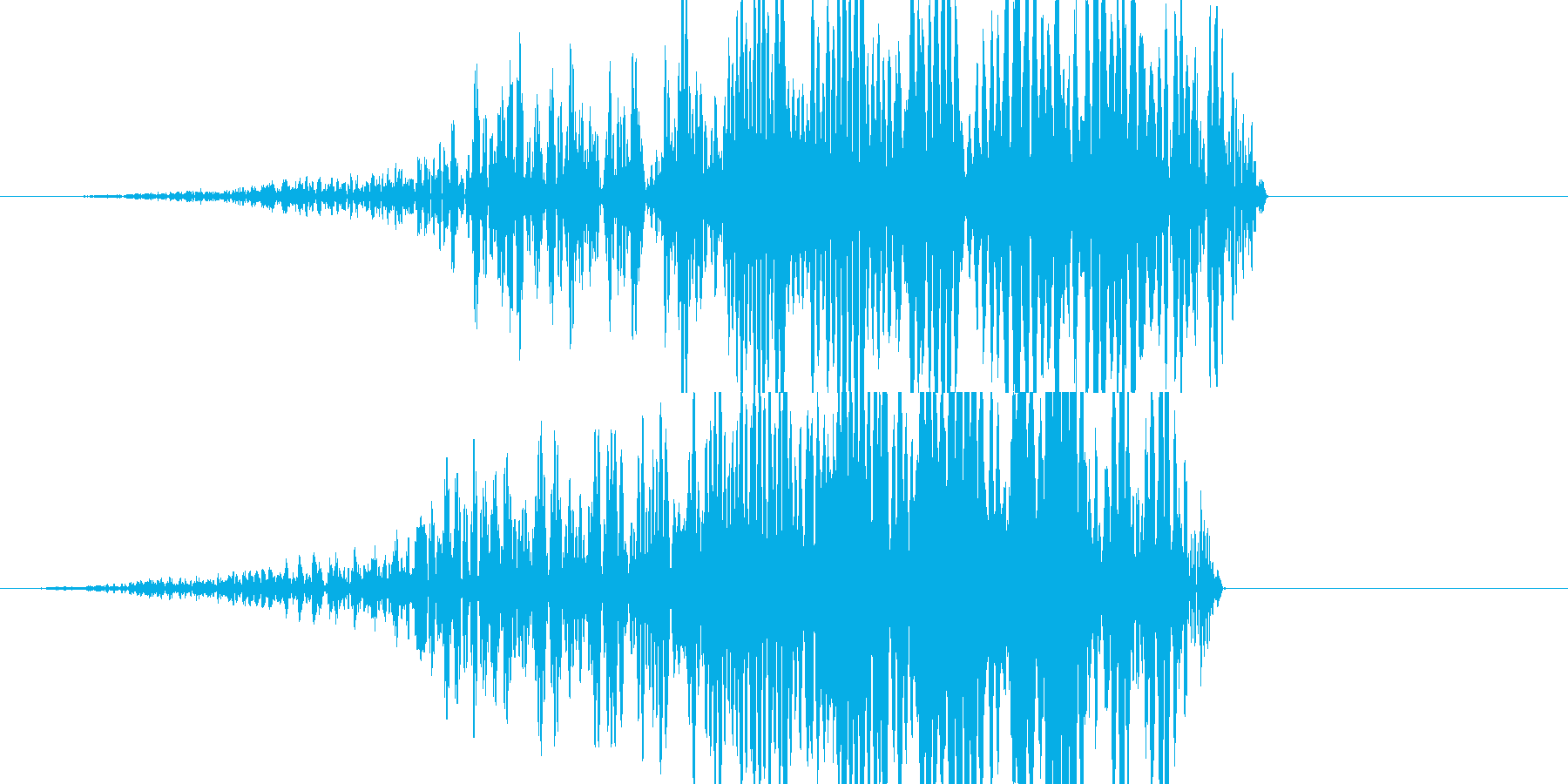 シュー(発射音)の再生済みの波形
