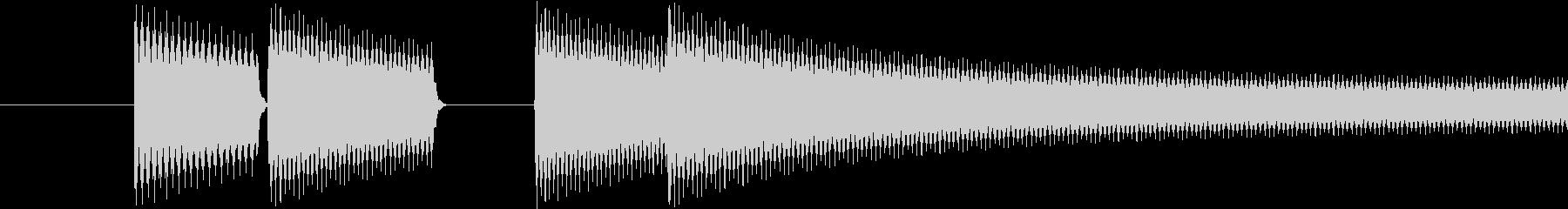 ゲーム(ゲームオーバー)の音の未再生の波形