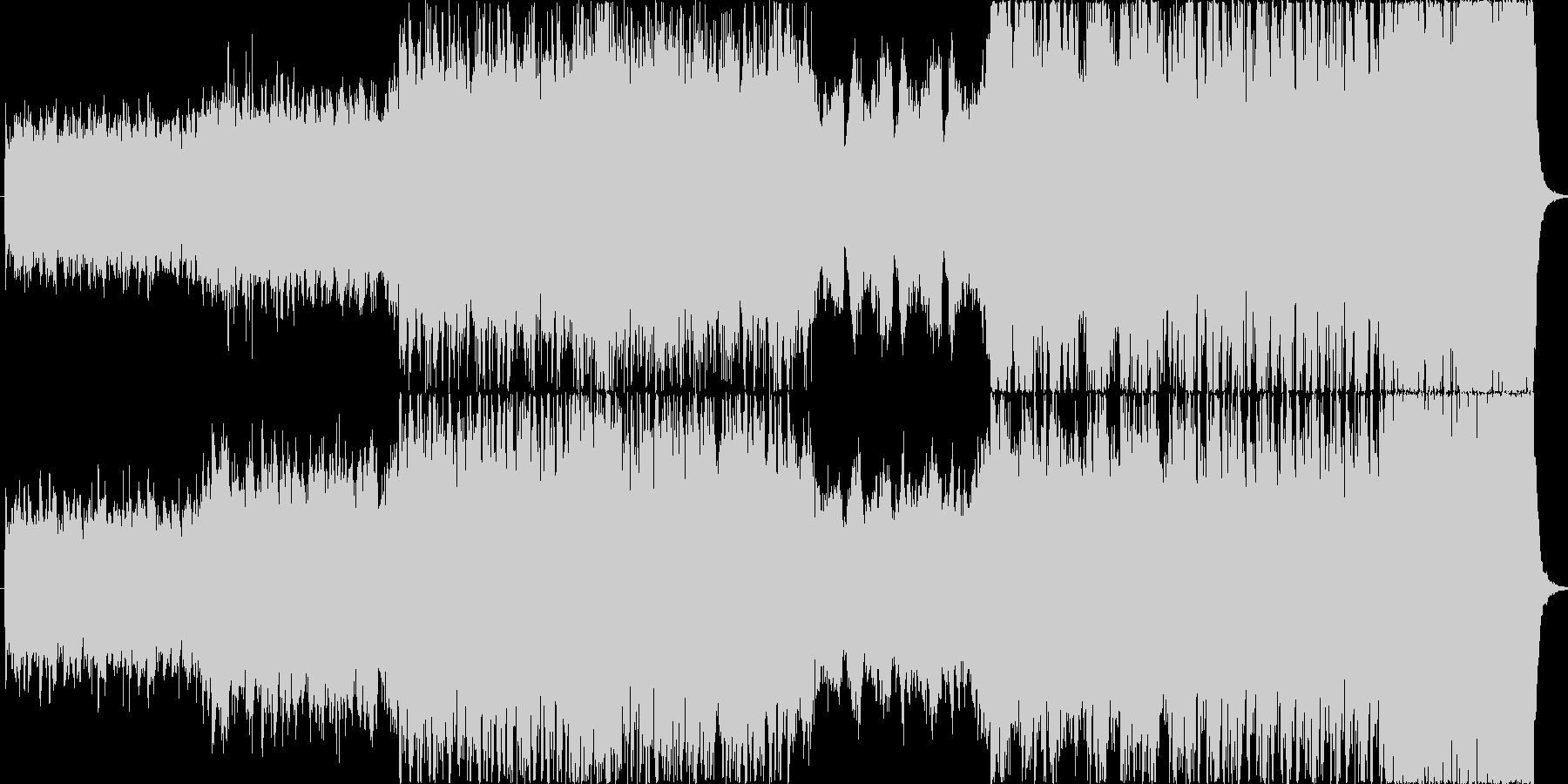 ハリウッドテイストな躍動感ある曲の未再生の波形