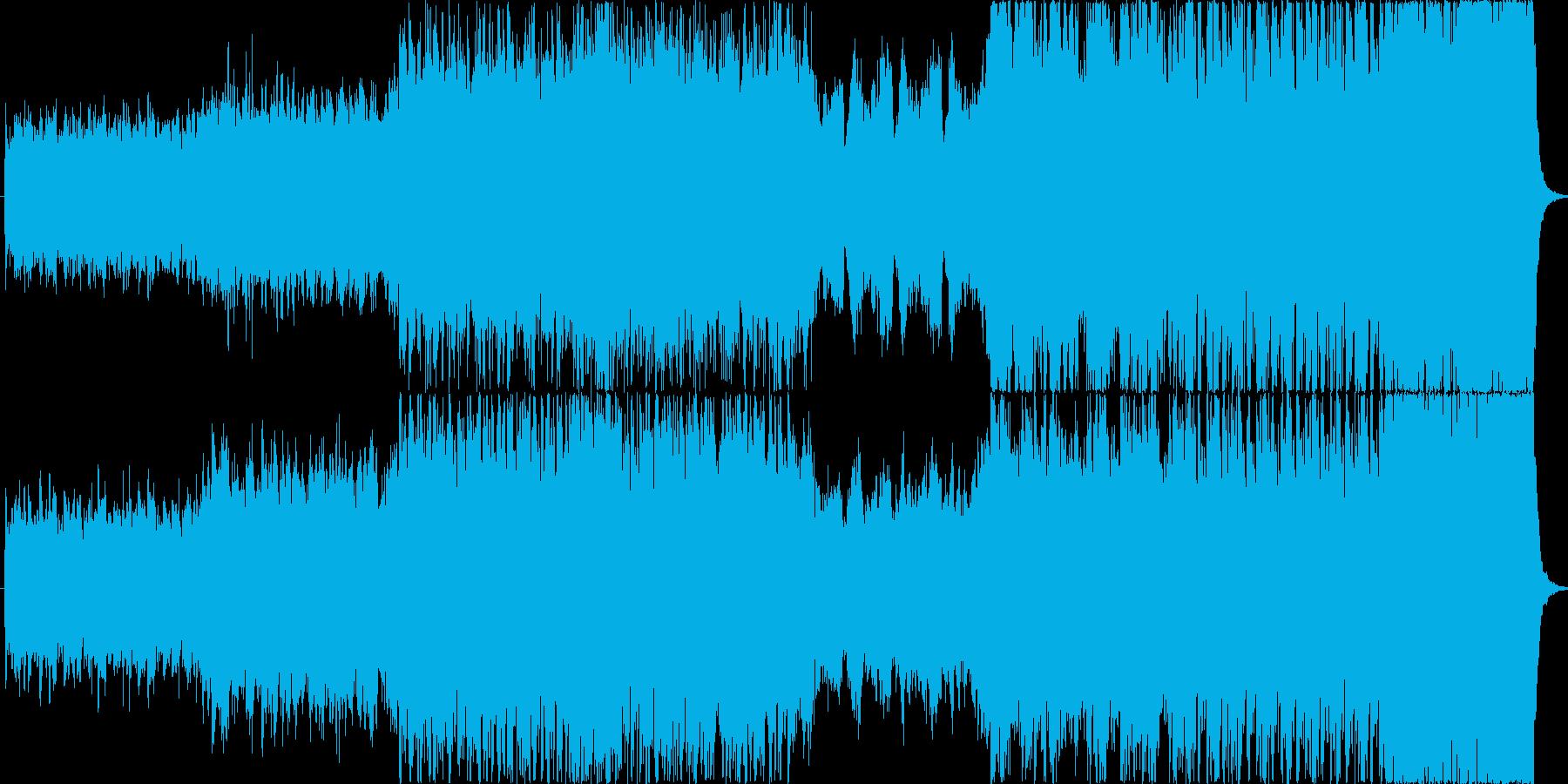 ハリウッドテイストな躍動感ある曲の再生済みの波形