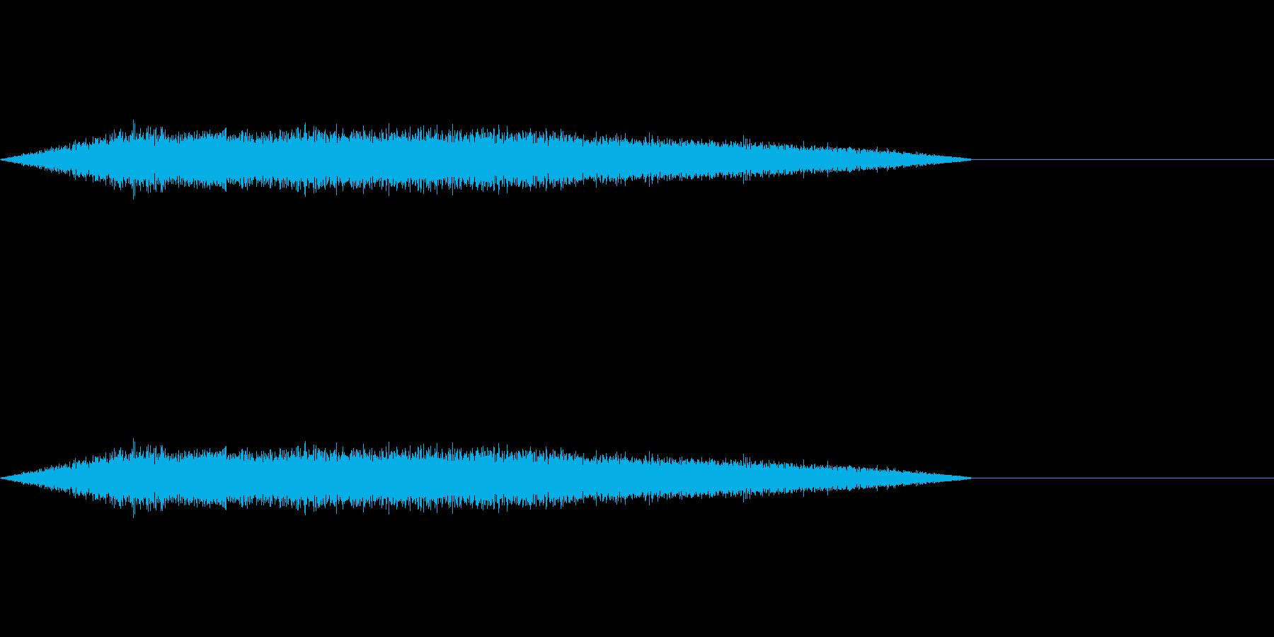 ゲームやアニメに良くある魔法詠唱の効果音の再生済みの波形
