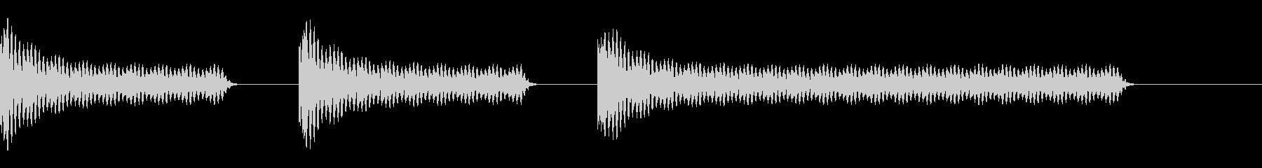 工事中のうるさいドリル音(短)の未再生の波形