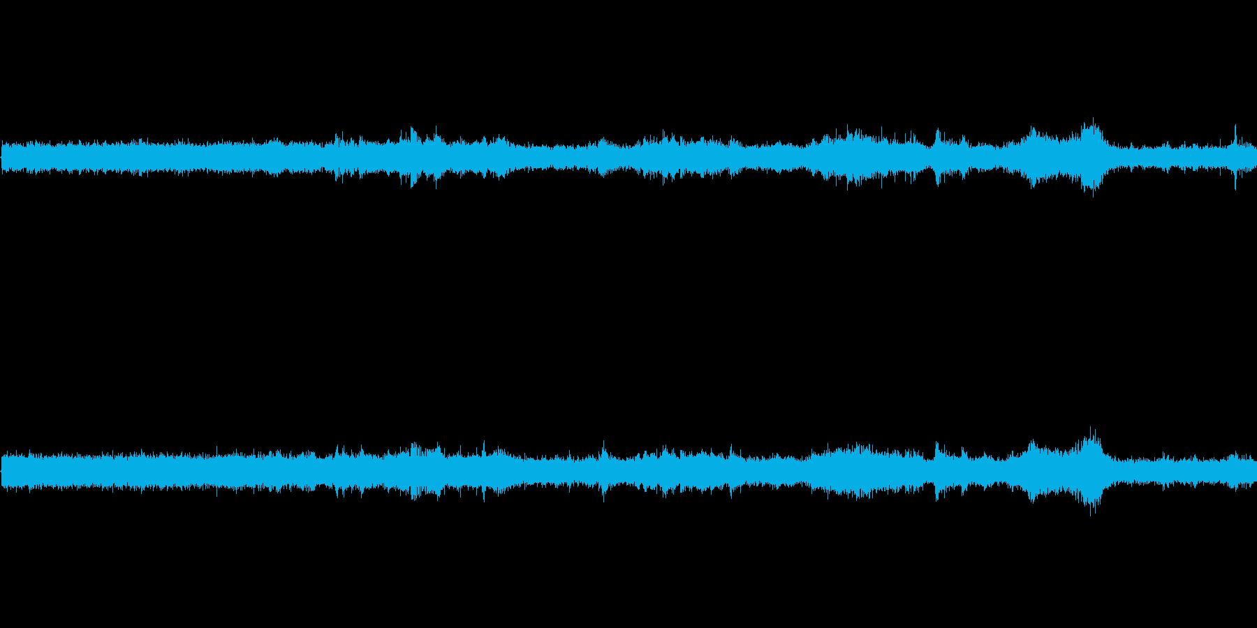 【生音】夏の日の通行音 - 4 「みー…の再生済みの波形