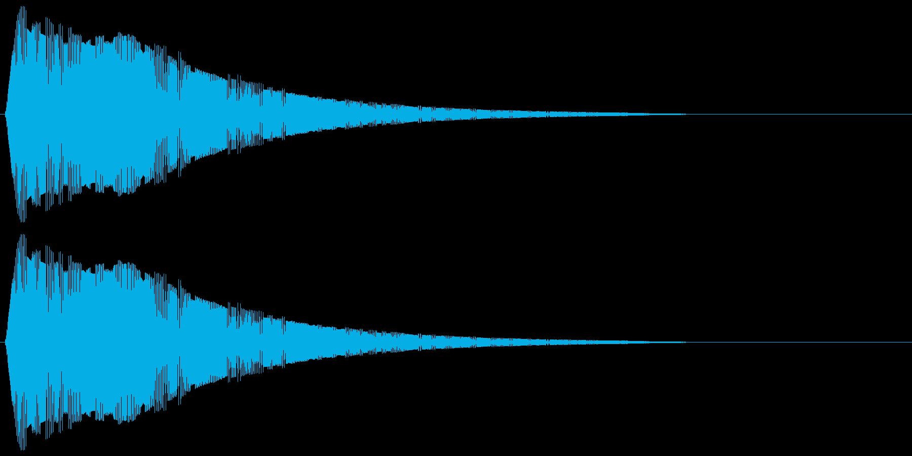 驚く、びっくりする ビヨォッ! (高め)の再生済みの波形