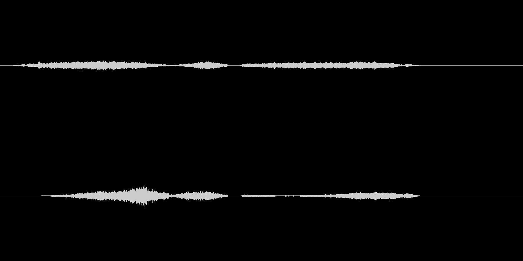 蚊の羽音(プーーー・・・ン)の未再生の波形