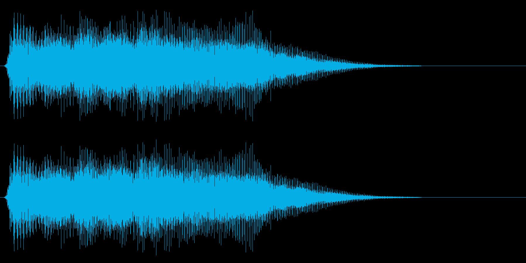 ファミコン風のレトロな音です の再生済みの波形