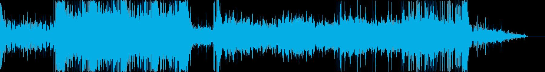 疾走感と爽やかさのあるテクノロックの再生済みの波形