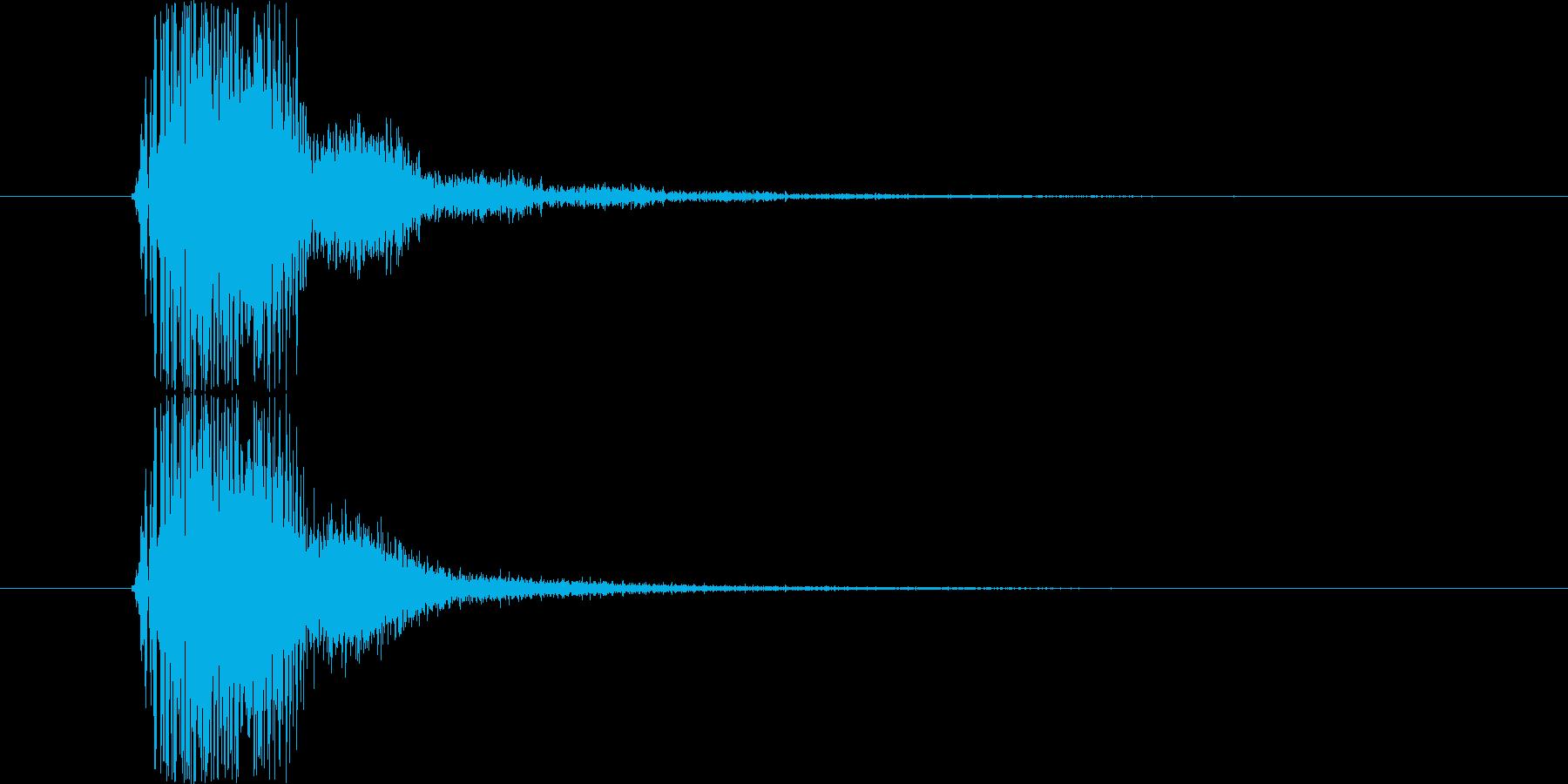 SF系の明るい「ナイス!」という声の再生済みの波形
