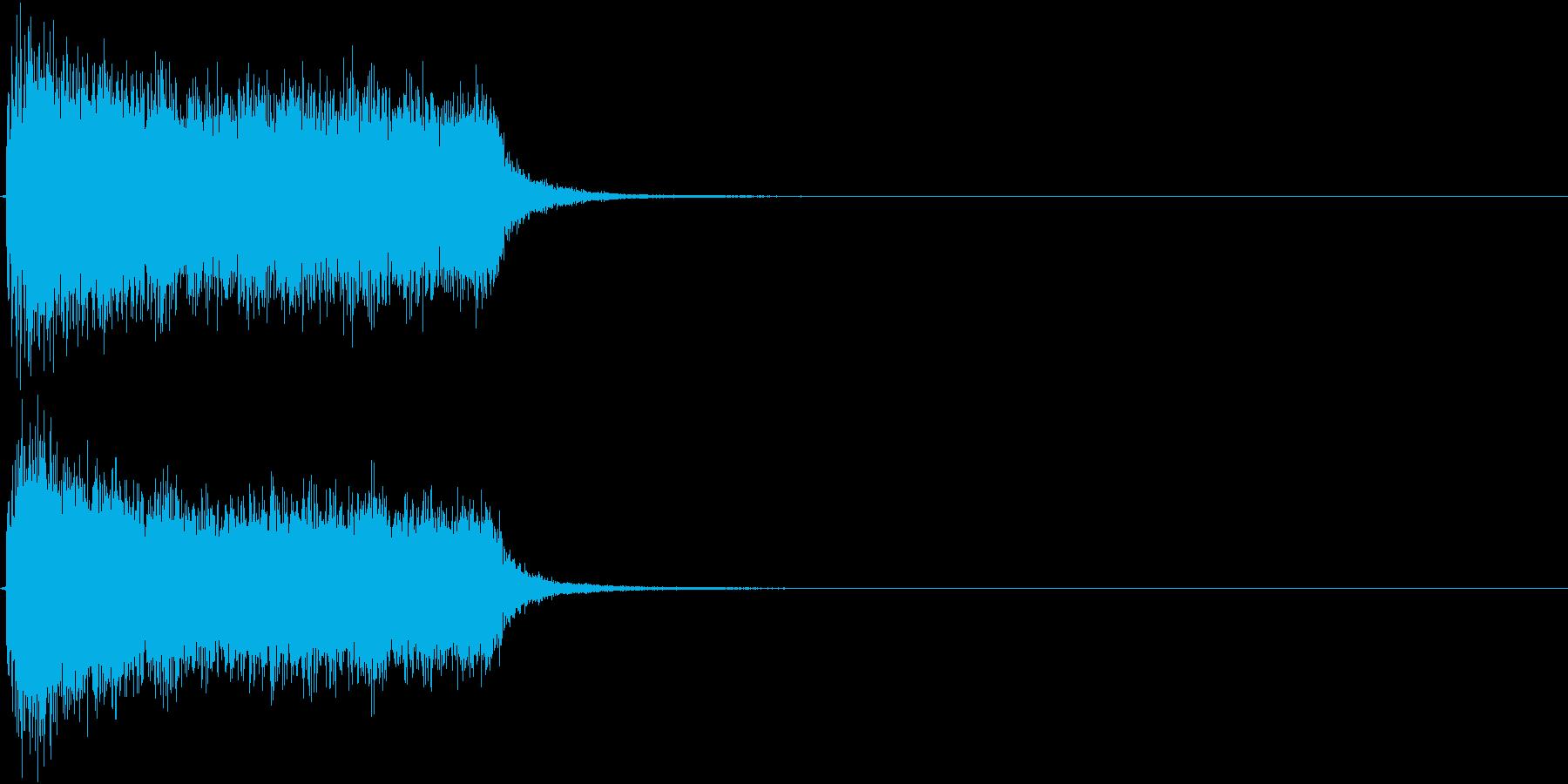 ジャーン(悪役が登場するイメージの音)の再生済みの波形