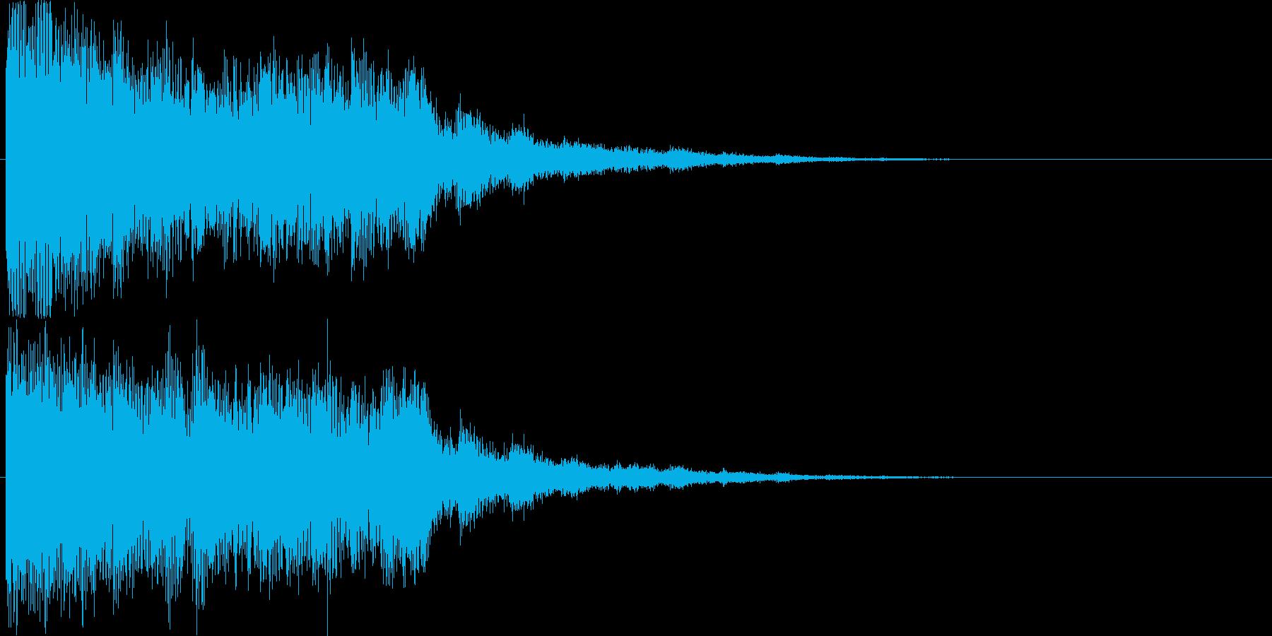 【場面転換】インパクト系効果音【魔法】の再生済みの波形