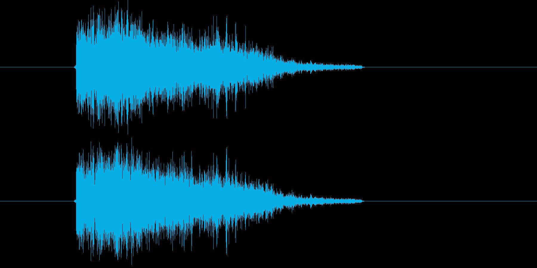植え込みに落下の再生済みの波形