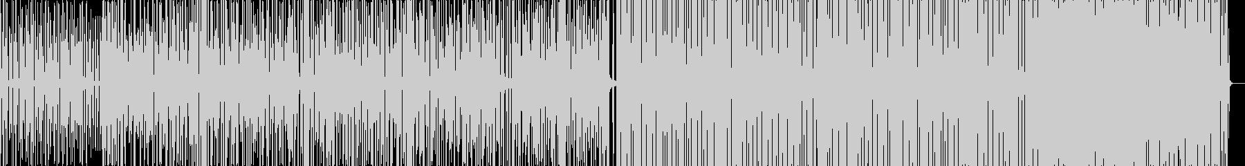 やや遅めのEDM系BGMの未再生の波形