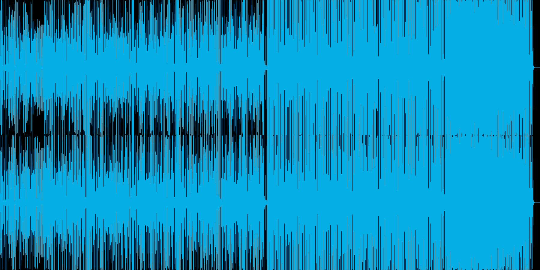 やや遅めのEDM系BGMの再生済みの波形