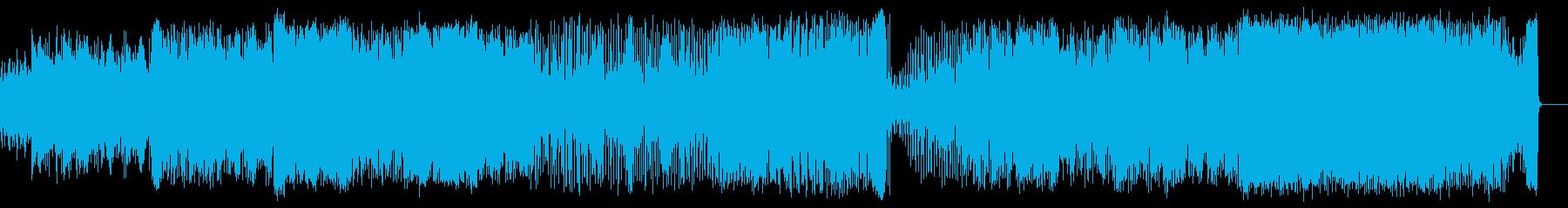 軽快な民族音楽調の再生済みの波形