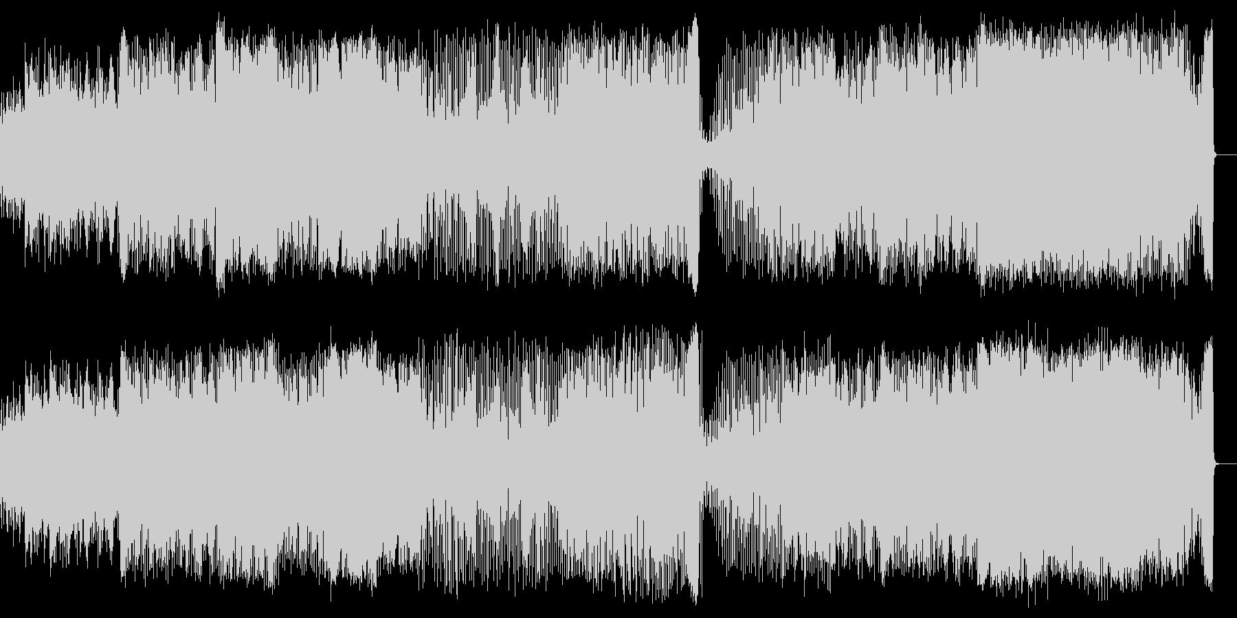 軽快な民族音楽調の未再生の波形