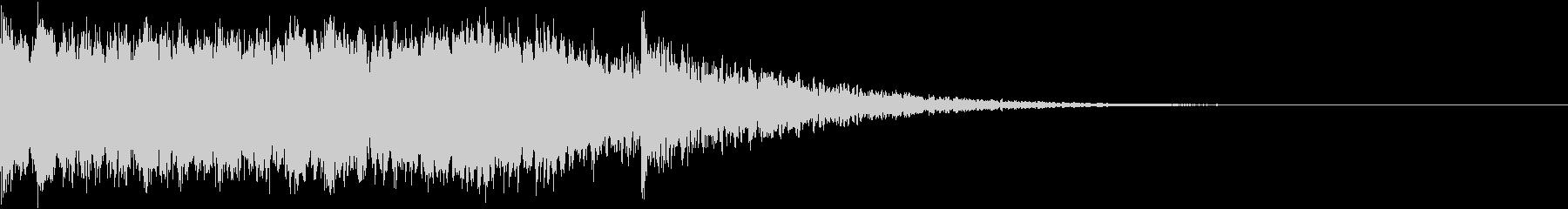 昭和のロボットアニメ風カウントダウンの未再生の波形