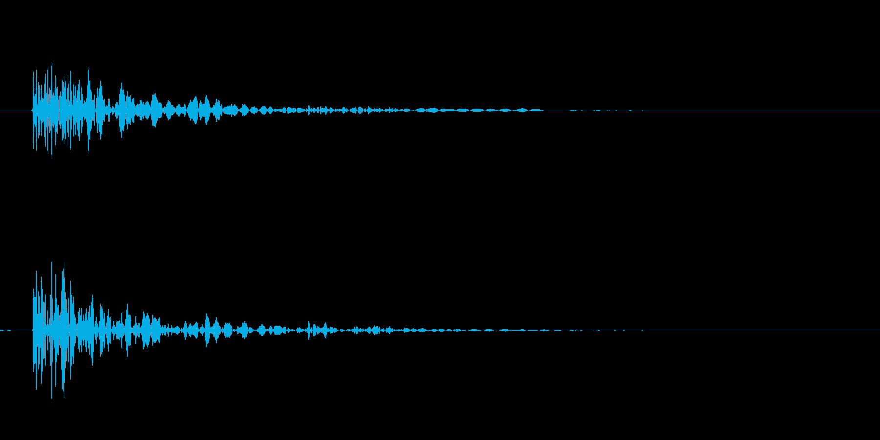 クローゼット バタンの再生済みの波形