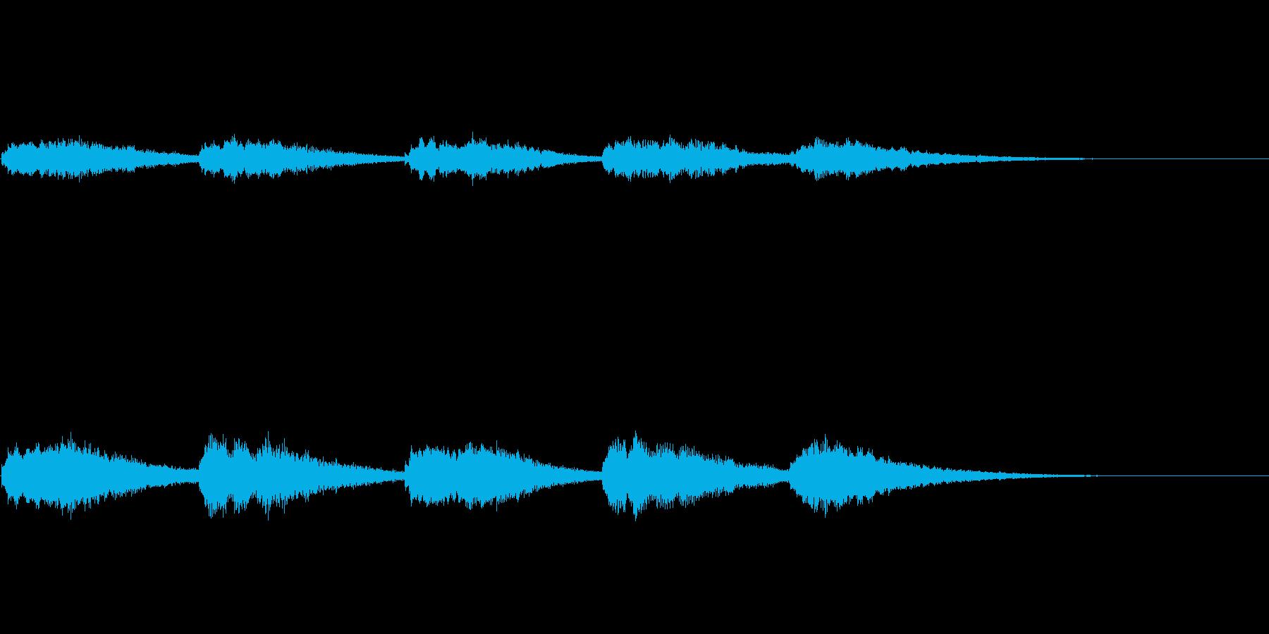オープニングベル1の再生済みの波形