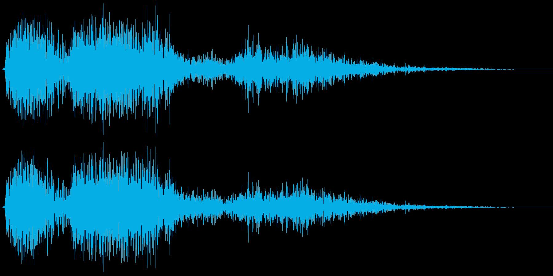 【銃声音010】ライフルの発砲音02の再生済みの波形