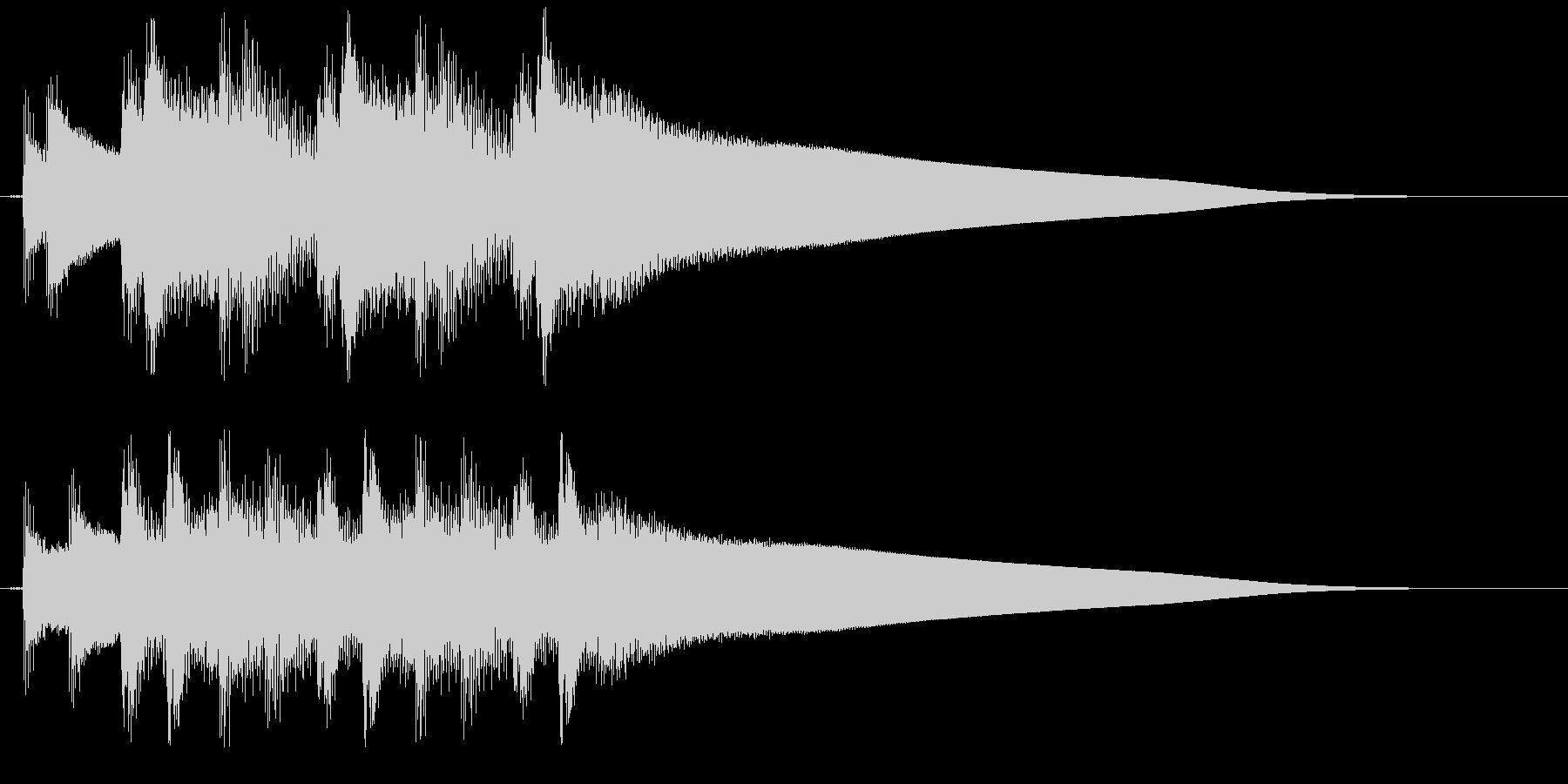 クイズ正解時の、ピンポンピンポンピンポ…の未再生の波形