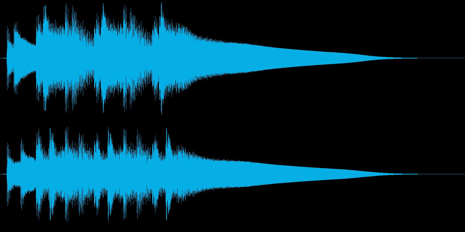 クイズ正解時の、ピンポンピンポンピンポ…の再生済みの波形