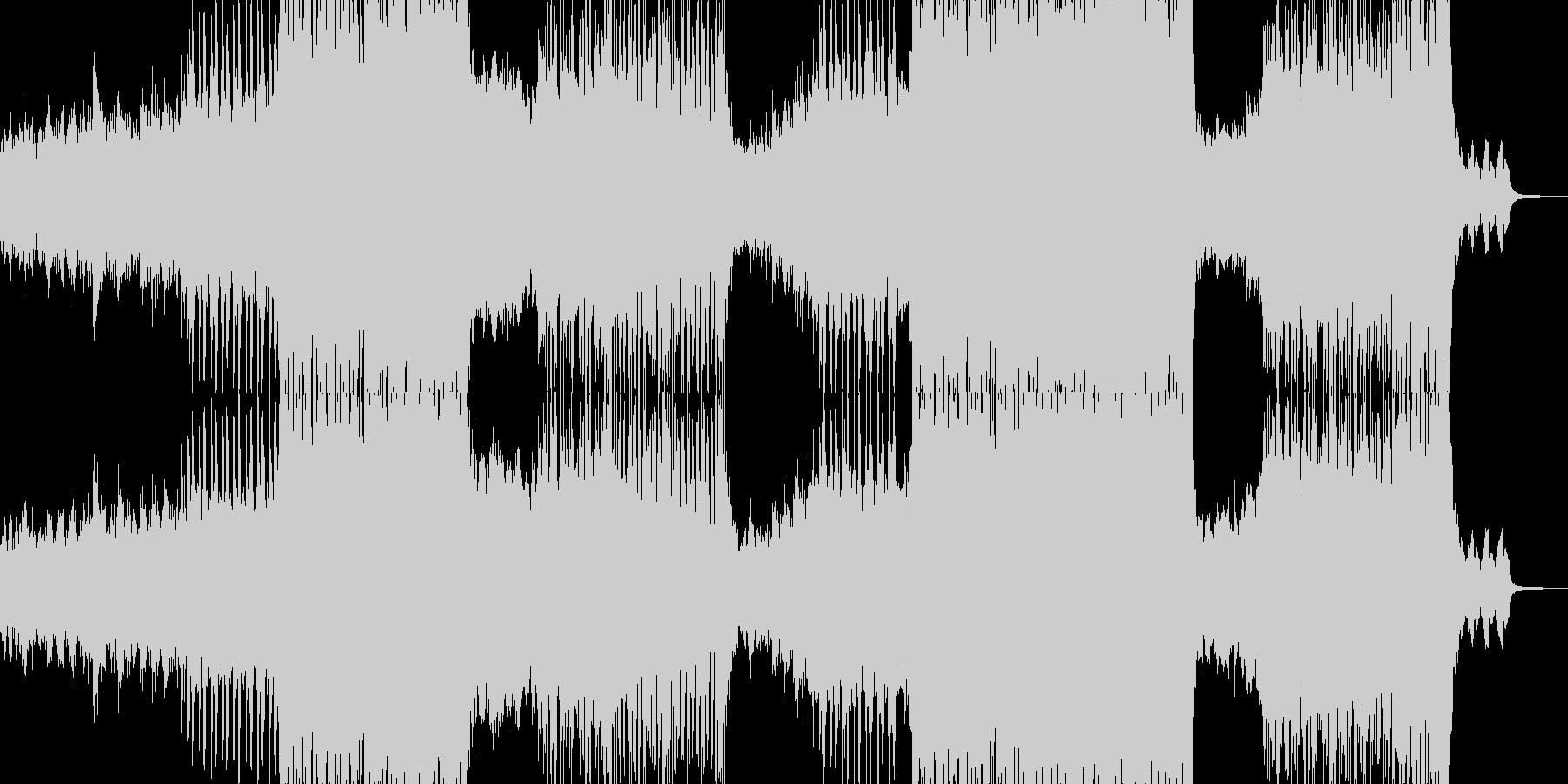 近未来的なポップチューンの未再生の波形