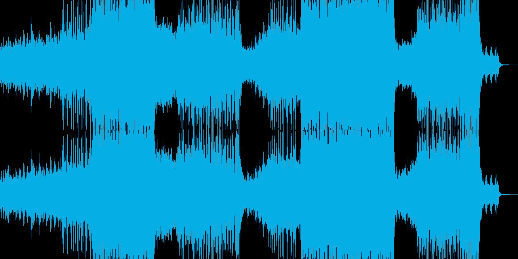 近未来的なポップチューンの再生済みの波形