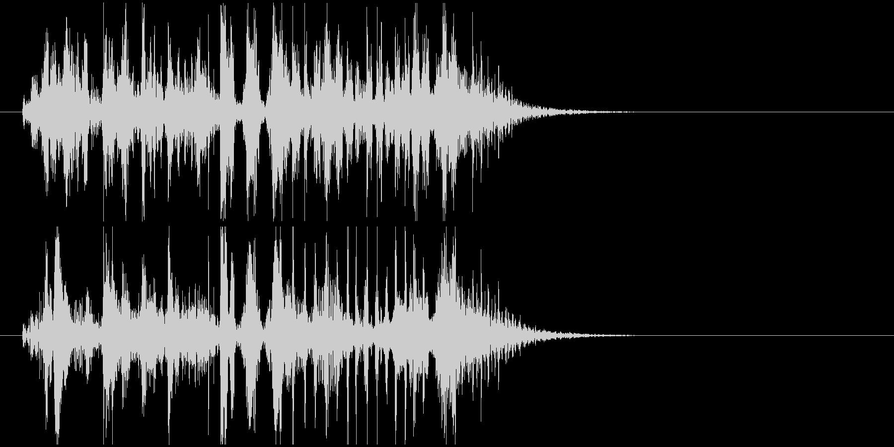 近未来的サウンドの未再生の波形