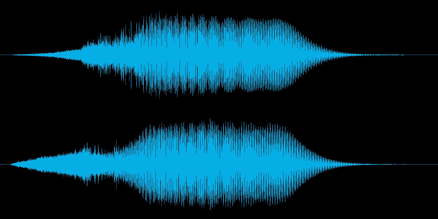 ハリウッドSF_流行_低音_ブーン_02の再生済みの波形