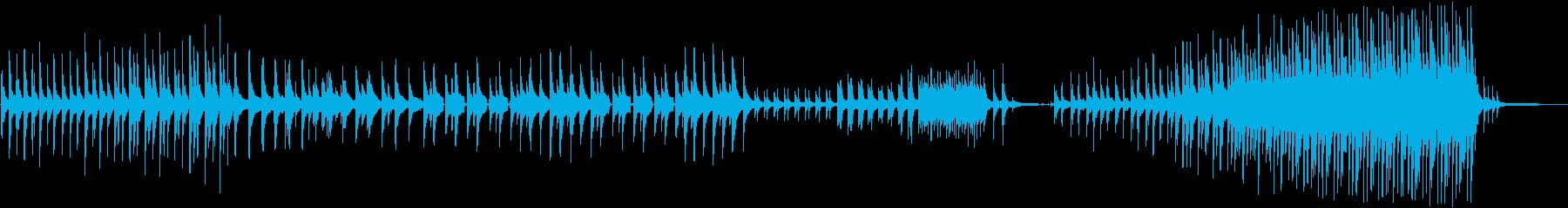 静かに始まり壮大になるピアノ曲の再生済みの波形