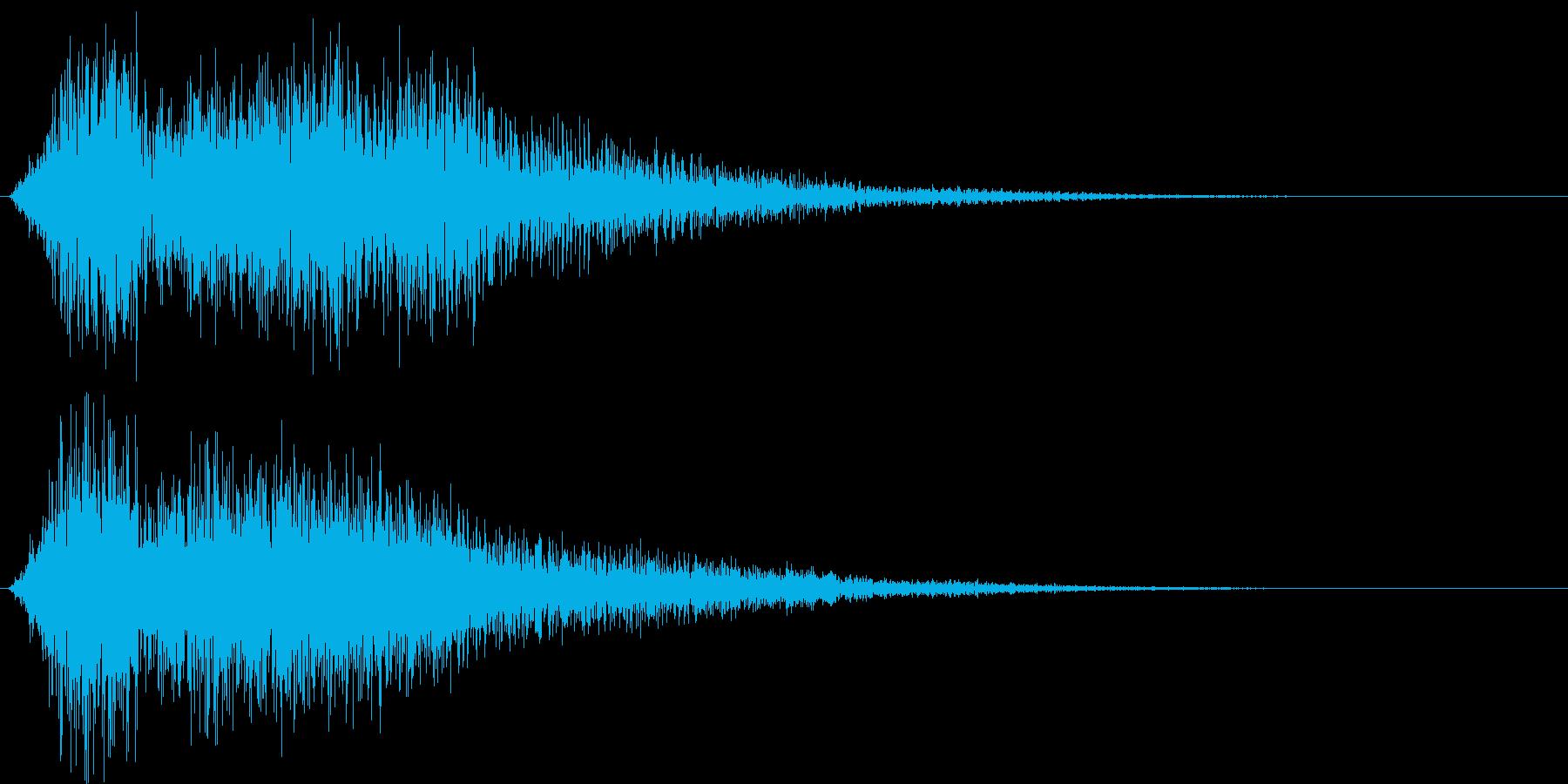 サウンドロゴ(豪快)の再生済みの波形