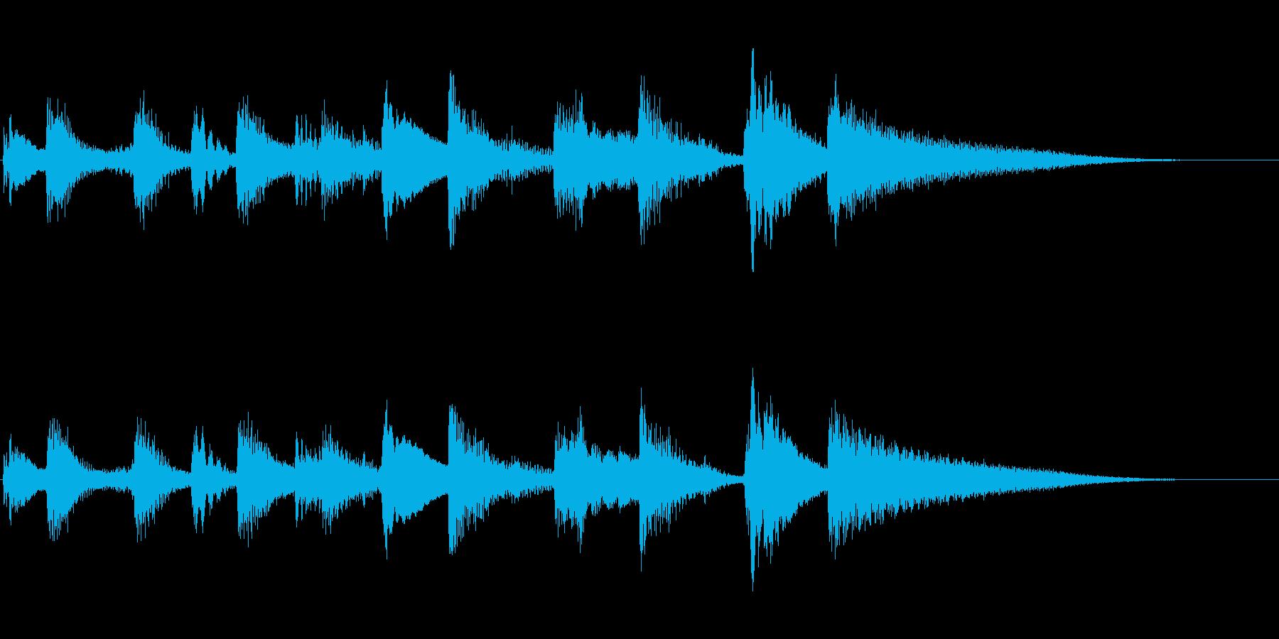 落ち着いたジャズ系の大人なジングルの再生済みの波形