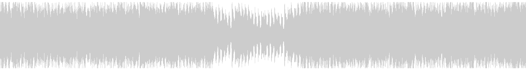 ピアノの旋律が印象的な4つ打ち曲の未再生の波形